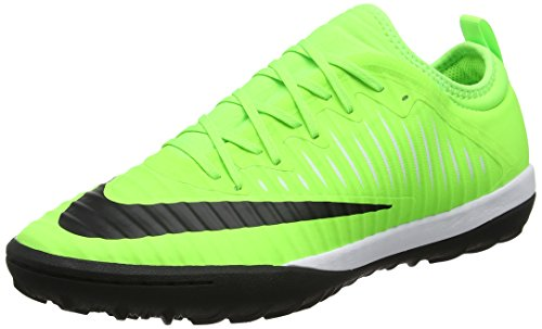 Nike unisex volwassene MERCURIAL X FINALE II TF 831975 301 sneakers, groen (Flash Lime/zwart/wit/gum Lite Brown), 45 EU