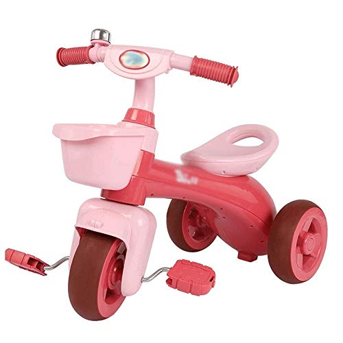 Kids' Fietsen, baby Loopfiets Peuter Driewieler, speelgoed, geschenken Indoor Outdoor for One Year Old Boys Girls Eerste verjaardag Thanksgiving Kerstmis (Color : Pink)