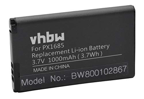 vhbw batería Compatible con Aiptek Bluewalker Mini Media Center cámara de vídeo, videocámara (1000mAh, 3,7V, Li-Ion)