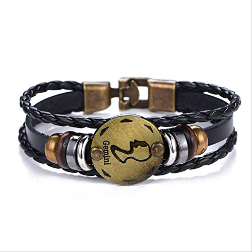 WFQ Bracelet New Birthday Gift Zodiac Signs Aries Leo Bracelet Constel