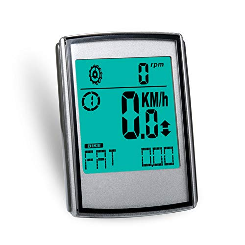 DJG 3 in 1 drahtloser Fahrradcomputer Cadence Herzfrequenz Geschwindigkeit Entfernungsmesser, Tachometer Multifunktions-LED-Fahrrad-Computer