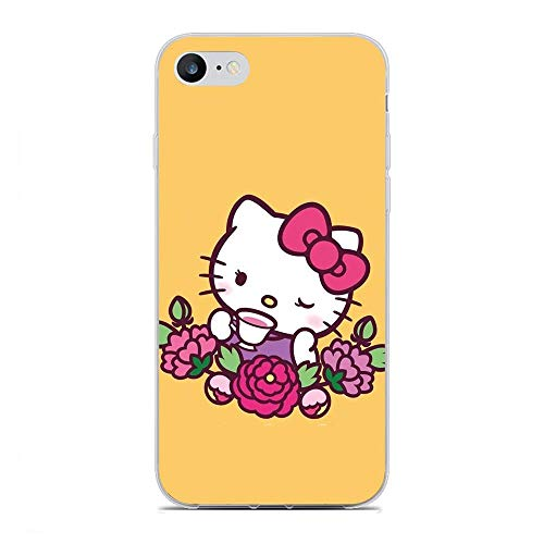 QNNN Transparent Silicone TPU Shockproof Clear Case Compatible with Apple iPhone 6/6s-Kitty-Cat Bowknot Cute 2