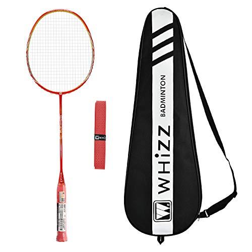 Whizz A730 High Modulus Graphite Badminton Racket, Professional Carbon Fiber Lightweight Racquet with...