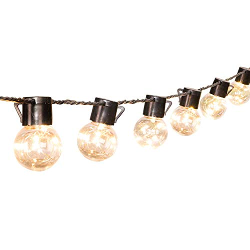17 Ft. SHATTERPROOF LED Patio Outdoor Lichterketten mit 20 klaren LED-Birnen, hängende Indoor Lichterketten für Hinterhof Deck Balkon Bistro Cafe Pergola Party Dekoration, warmweiß …