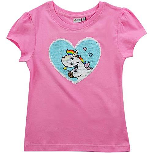 Pummeleinhorn Pummel & Friends T-Shirt Pailletten-Herz Gr. 98/104 Mädchen
