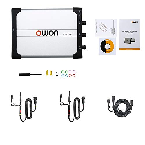 OWON vds1022i Oszilloskop Virtual Dual-Channel Bandbreite von 25 m USB-Isolation 1 G Abtastrate Oscilloscope