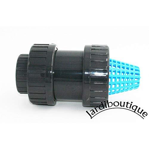 jardiboutique crépine avec clapet Anti-Retour en PVC diamètre 32-1\