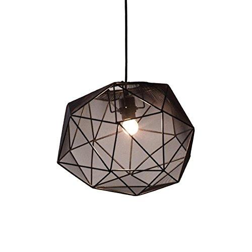 Atmko®Suspension Luminaire Moderne Lustre Creative Nordic Design À La Main Net Tissu Abat-Jour Pendentif Plafonniers Pour Salon, Bar, Café, Restaurant, A
