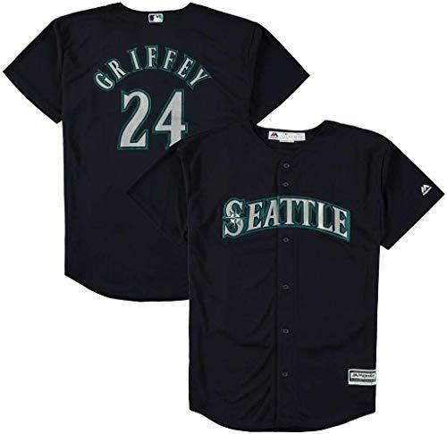 Ken Griffey Jr Seattle Mariners Youth 8-20 Navy Alternate Cool Base Replica Jersey (8)