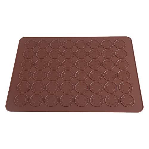 Macaron Backmatte, 48 Hohlräume Braun Makronenformen Antihaft-Silikonform Backblech Makronen Plätzchen Gebäck DIY Kuchen Muffin Backgeschirr Dekorationswerkzeuge