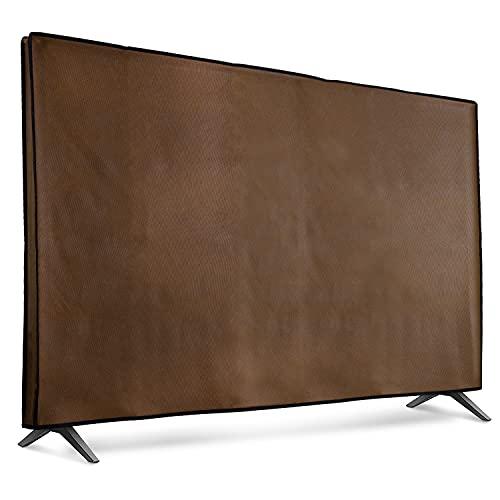 """kwmobile Funda para Monitor 55"""" TV - Cubierta Protectora Textil para Pantalla de TV en marrón Oscuro"""