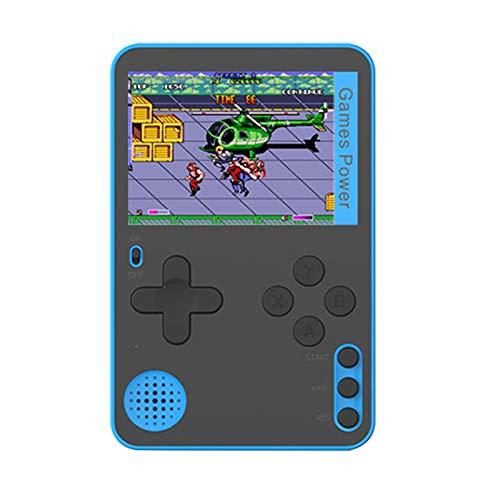 KingbeefLIU Consola De Juegos Portátil Mini Reproductor De Videojuegos Clásico ABS para Niños con 400 Juegos Clásicos Azul