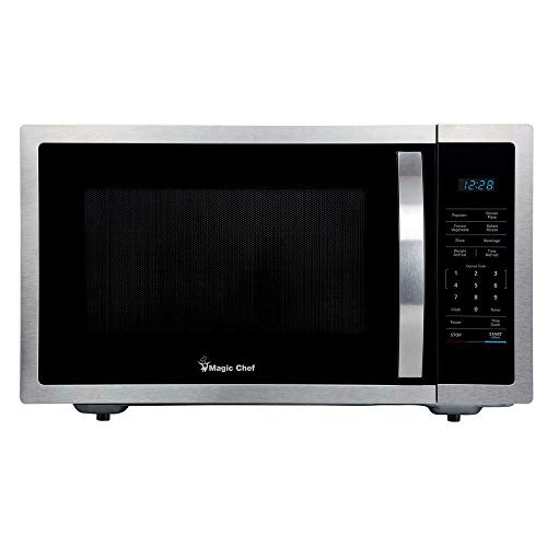 Magic Chef HMM1611ST2 1.6 cu. ft. Countertop Microwave, Stainless Steel