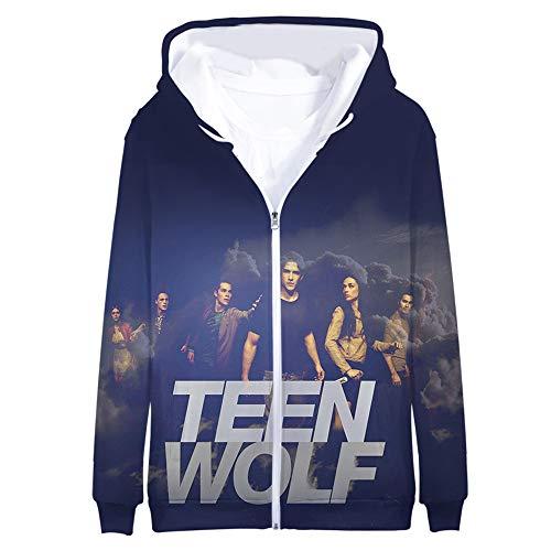 Teen Wolf Pullover Versión Coreana Original Cierre de Cremallera Sudadera Sudadera de...