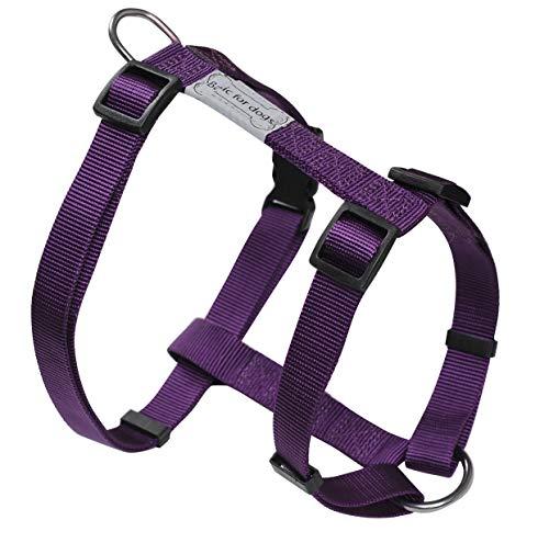 Harnais pour chien Basic Line Wouapy, Harnais Violet de 74/117 cm