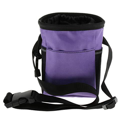SM SunniMix Leckerliebeutel Futterbeutel Leckerlietasche Gürteltasche für Hunde zum Laufen, Trainieren oder Reisen - Lila
