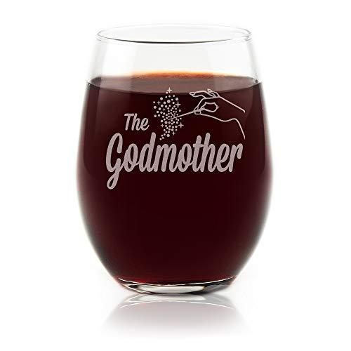 Gute Weinglas Weingläser ohne Stiel–Gute Geschenk Glas Cup–Patenschaft Geschenk von Patenkind bei Taufe Taufe