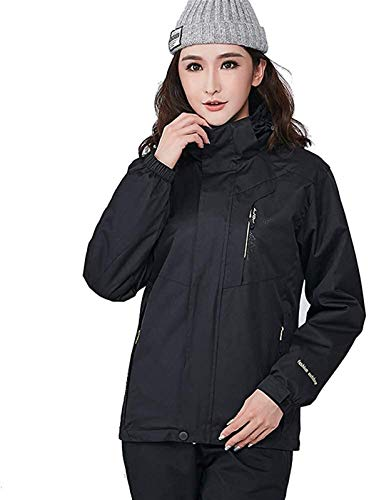 ZHAO Winter Berg Jacke Winddicht Warm Ski Snowboard-Jacke Paar Wear (Color : Black(w), Size : 4XL)