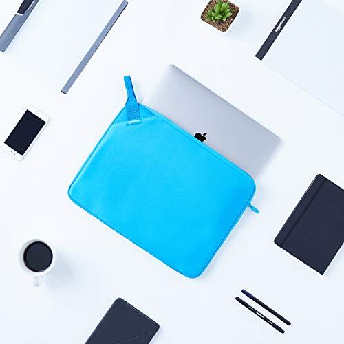 """Amazon Basics 15.6"""" Executive Laptop Sleeve Case (With Handle) - Blue"""