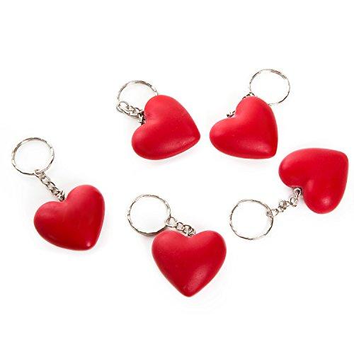 5pieza Roja Kleine llavero de corazón colgante 4cm sin cadena; perfecto como pequeño regalo de invitados, obsequios o de Give Away Bodas, en Navidad, para cliente Regalos