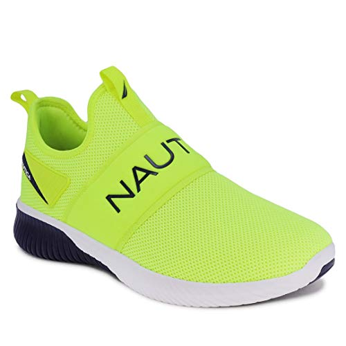 Nautica Men's Casual Fashion Sneakers-Walking Shoes-Lightweight Joggers-Steeper Sport-Lime Navy-9