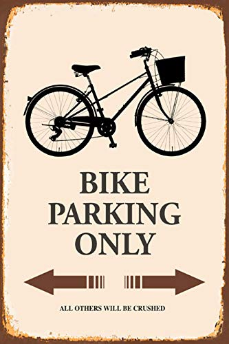 FS Bike Fahrrad Parking only parkschild tin Sign Blechschild Schild gewölbt Metal Sign 20 x 30 cm