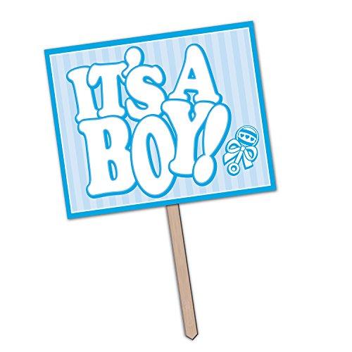 Beistle 55913IT 'S A Boy Yard Zeichen, 12Zoll von 15Zoll