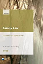 Family Law 2009: LPC Guide (Blackstone Legal Practice Course Guide)
