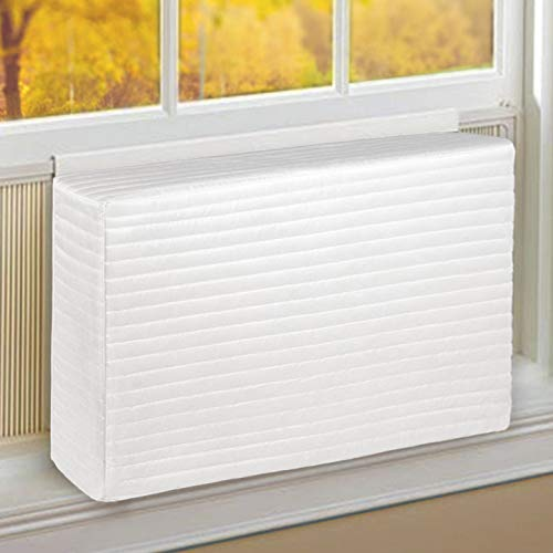 Daisypower Indoor Window Air Conditioner Cover, 21W x 14H x 4D Inches for Windows AC Unit,Double Insulation Covers,White