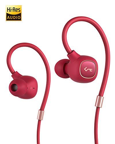 AUKEY Auriculares inalámbricos, Auriculares Bluetooth 5 de Key Series con Controlador Híbrido, aptX Low Latency, Resistencia al Agua del Nivel IPX6, Duración de Batería de 8 Horas