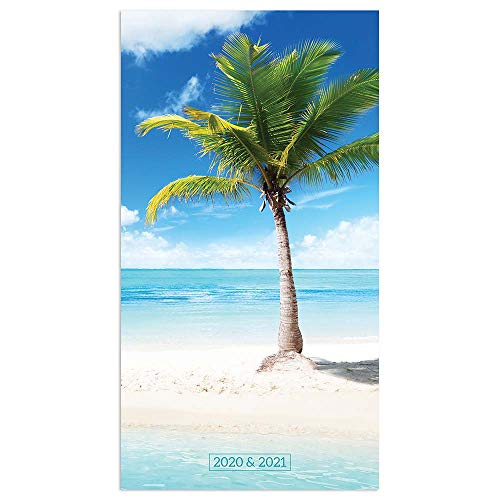 2020-2021 Tropical Beaches 2-Year Small Pocket Planner Calendar