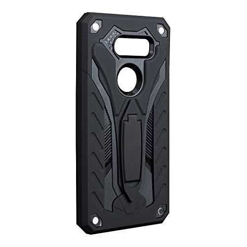 kompatibel mit LG G5|G6 Hülle Ultra Dünn Slim Heavy Duty Cover Silikon Weiches TPU Bumper Harte Schale PC 2 in 1 Handyhülle Grip Ständer Stoßdämpfung Schutzhülle (G6, Schwarz)