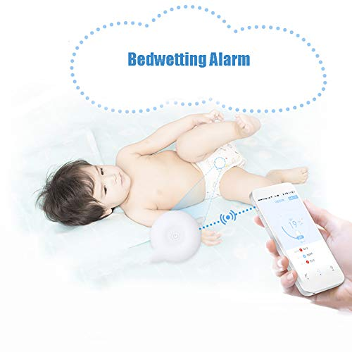 ZZYYZZ Wireless Bedwetting Alarm Enuresis Alarms Moisture Sensor with Sound and Vibration for Baby Children and Elderly Adults