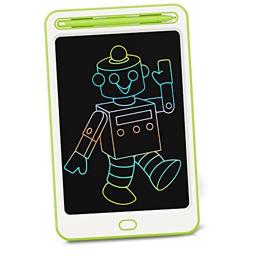 Richgv Tableta de Escritura LCD de 8,5 Pulgadas, Tableta LCD Writing, una Llave para borrar, Tabla de Pintura Doodle, ultradelgada y portátil, Regalo para niños, Escuela, Familia, Oficina (Ver