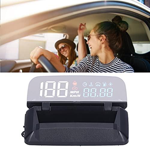 Jopwkuin Head Up Display, imágenes de Reflejo de Forma Segura, Accesorios para el automóvil, Alarma de Velocidad para vehículos Que cumplen