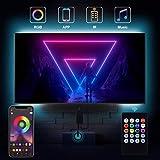 Bewahly LED TV Retroilluminazione 3M, Striscia LED RGB Smart USB Alimentata con Telecomando, Bluetooth APP Control, Impermeabile Strisce LED per a TV da 40-65 Pollici, PC Monitor e Camera da Letto
