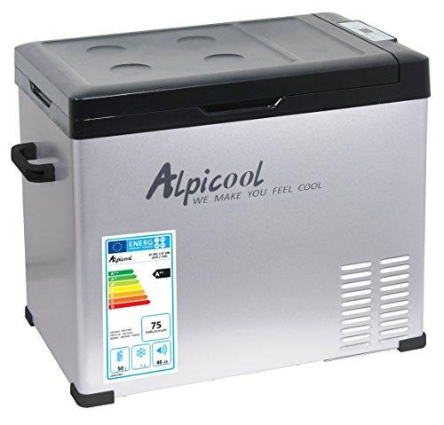 Compass 07096 Kühlbox ALPICOOL mit Kompressor 50l 230/24/12V -20°C Grey