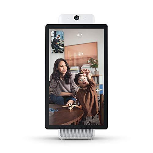 "Portal Plus from Facebook (Blanc) | Appels Vidéo Intelligents | avec Alexa Intégré - Écran 15,6"""