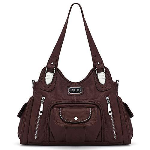 Scarleton Satchel Handbag for Women, Purses for Women, Shoulder Bags for Women, Tote Purse, H163521 - Dark Brown