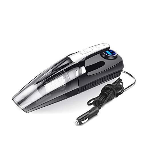 Aspiradora de coche 4 en 1 Multifunción Clea de mano portátil Aspiradora de mano Pantalla digital Doble Uso Dual Uso Coche Auto Inflable Pump Bomba de compresor de aire Limpiar al polvo