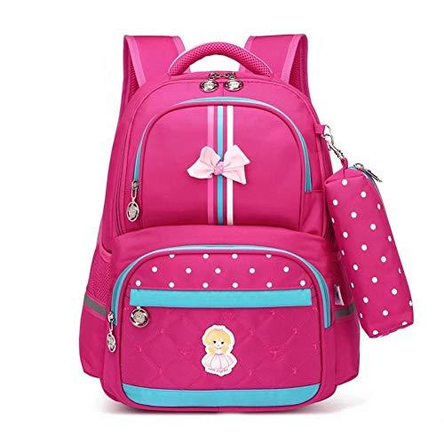 ZHIHUI Schultasche Mädchen Schultasche Schultaschen Für Mädchen Kinder Rucksäcke Mädchen Schulrucksack Kinder Tasche Armbrust,Rose