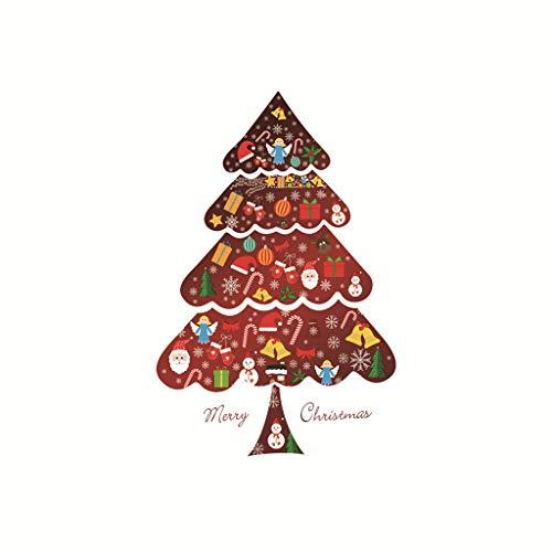 Harpily Weihnachtsbaum Wandtattoos Frohe Weihnachten Wandbilder Abnehmbare Aufkleber Wanddeko Weihnachtsbaum Weihnachtsdeko,Rot