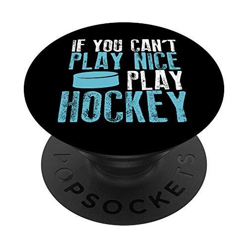Camiseta divertida del jugador de hockey para hombres PopSockets PopGrip: Agarre intercambiable para Teléfonos y Tabletas
