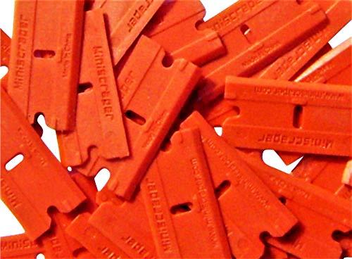 MINISCRAPER Plastic Razor Blades - 50 Pack- Double Edged