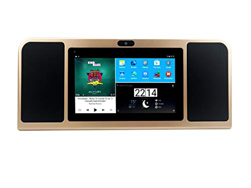 Azpen A770 Boombox with Tablet with Dual 5 Watts Bluetooth Speakers HD Display 16GB Storage and 8 Hour Battery (GOL (Renewed)