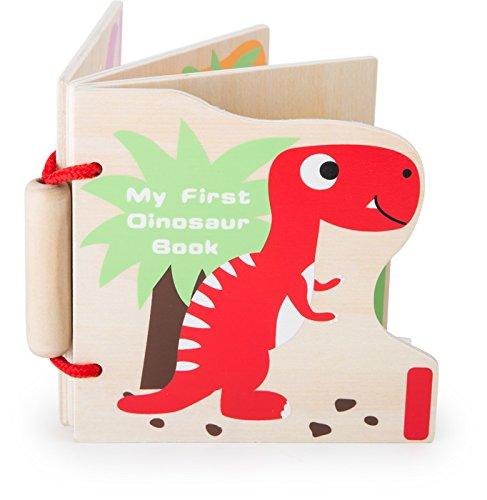Small Foot - 10107 - Livre en Bois - Mes Premiers Dinosaures