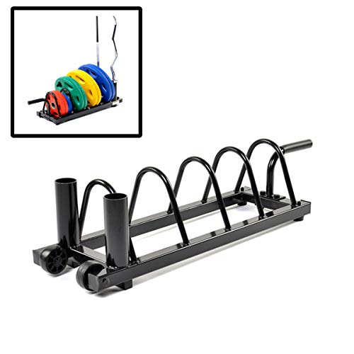 Grist-CC-Dumbbell-Rack-Horizontal-Plate-Rack-Olympic-Weight-Rack-with-2-Inch-Olympic-Barbell-Holder-Stands-for-Gym-Organization