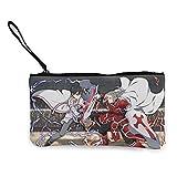 Sword Art Online - Monedero de lona para monedas, lindo y de moda, llevar y organizar la bolsa de almacenamiento y bolsa de cosméticos