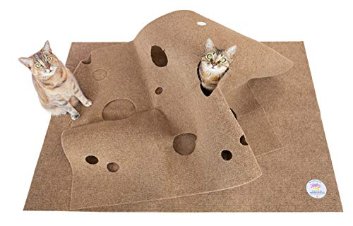 SnugglyCat The Ripple Rug - Cat Activity Play Mat - Made in USA - Insulated Base Keeps Kitty Cool - Fun Interactive Play - Training - Scratching - Bed Mat