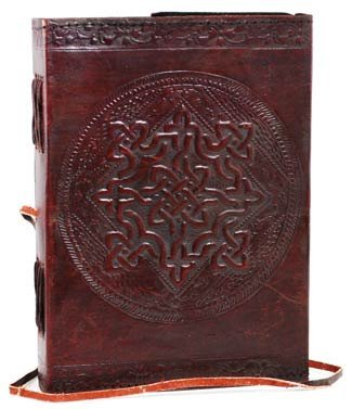 AzureGreen - Small 1842 Poetry Leather Blank Book (BROWN LARGE)